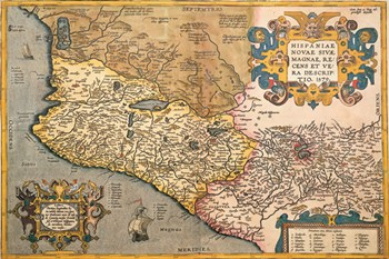 Map of South Western America and Mexico  Fine-Art Print