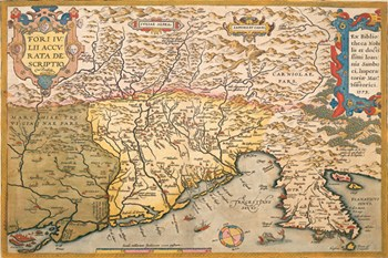 Map of Southern Europe  Fine-Art Print