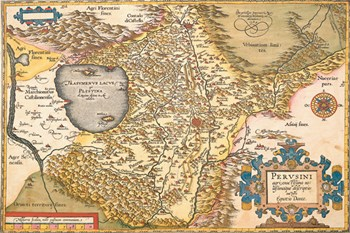 Map of Italy Near Florence  Fine-Art Print
