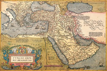 Map of The Middle East  Fine-Art Print