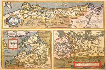 Maps of Eastern Europe and Russia  Fine-Art Print