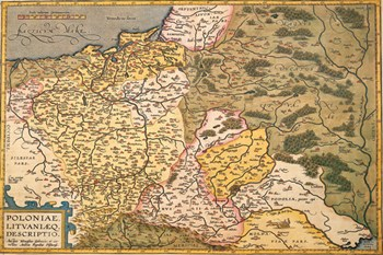 Map of Poland and Eastern Europe, c.1500's  Fine-Art Print