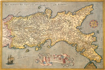 Map of Southern Italy  Fine-Art Print