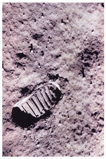 First Step on the Moon  Fine-Art Print