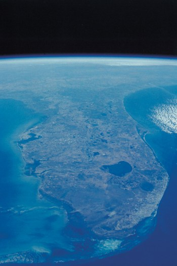 View of Florida Peninsula From Space  Fine-Art Print