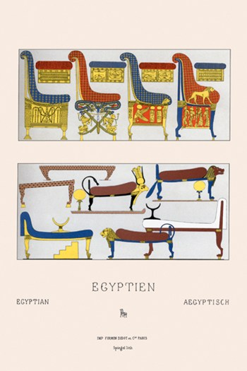 Egyptian Furniture - Beds, Couches, and Thrones ~ Fine-Art Print ...