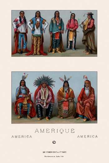 Native Americans of Mississippi and Colorado  Fine-Art Print