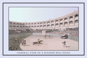 General View of a Spanish Bull Fight  Fine-Art Print