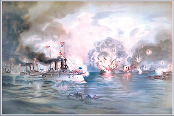 Naval Battle, Manila  Fine-Art Print