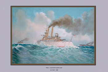First-Class Battleship Iowa  Fine-Art Print