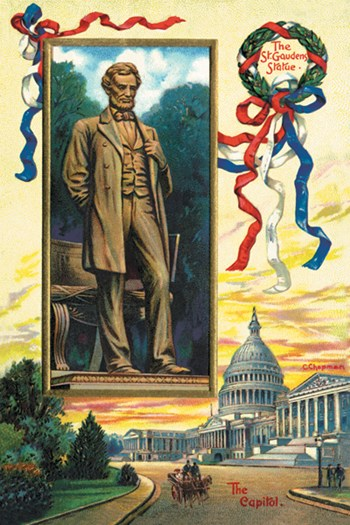 St. Gaudens Statue and the Capitol  Fine-Art Print