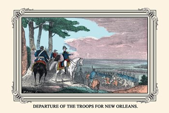 Departure of the Troops for New Orleans  Fine-Art Print