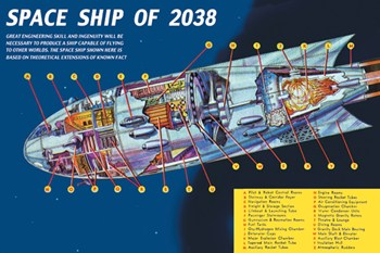 Space Ship of 2038  Fine-Art Print