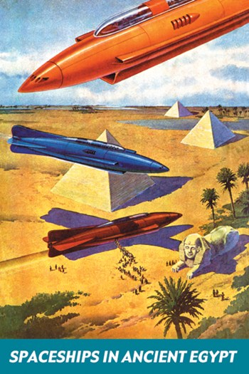 Spaceships in Ancient Egypt  Fine-Art Print