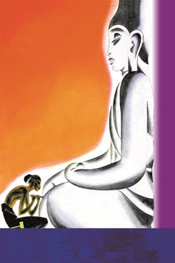 Burmese Sculptor at the knees of Buddha  Fine-Art Print