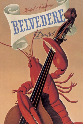 Lobster Musician at the Belvedere Hotel and Casino  Fine-Art Print