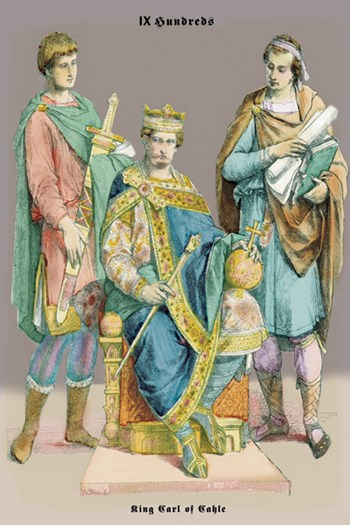 King Carle of Cahle, 10th Century  Fine-Art Print