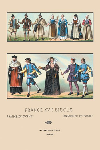 Costumes of Various French Classes, Sixteenth Century  Fine-Art Print