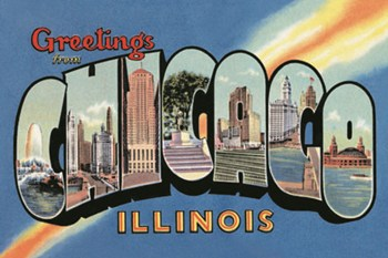 Greetings from Chicago Illinios  Fine-Art Print
