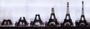 Paris Eiffeltower Construction - Slim Print  Wall Poster