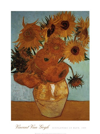 Sunflowers on Blue, c.1888  Fine-Art Print