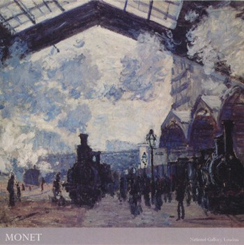 The Gare St. Lazare, c.1877 (detail)  Fine-Art Print