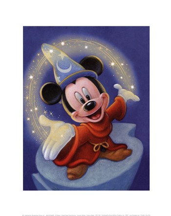 Sorcerer Mickey - Fantasia Magic  Fine-Art Print