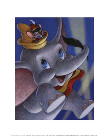 Dumbo and Timothy Mouse - The Magic Feather  Fine-Art Print