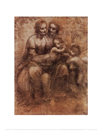 The Virgin and Child with Saint Anne and Saint John the Baptist, c. 1499/1500  Fine-Art Print