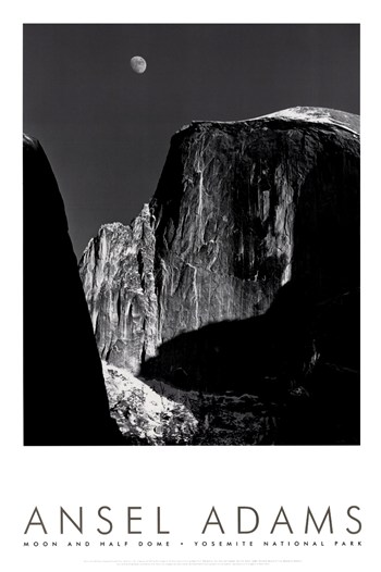 Moon and Half Dome (embossed)  Fine-Art Print