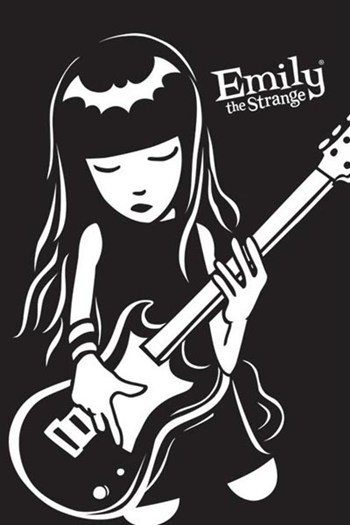 Emily the Strange - guitar  Wall Poster
