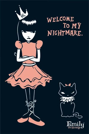 Emily the Strange - welcome to my nightmare  Wall Poster
