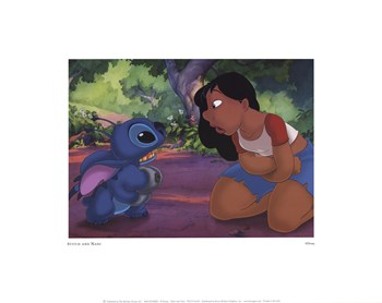 Stitch and Nani  Fine-Art Print