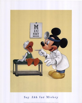 Disney say ahh for mickey fine art print