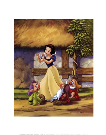 Snow White - Two Hearts as One  Fine-Art Print