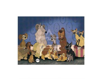 Cast of 'Lady and the Tramp'  Fine-Art Print