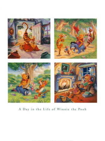 A Day in the Life of Winnie the Pooh  Fine-Art Print