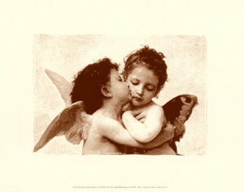 The First Kiss (embossed)  Fine-Art Print