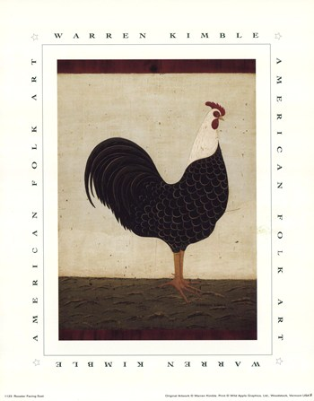 Rooster Facing East  Fine-Art Print