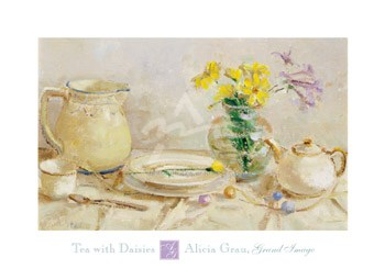Tea with Daisies  Fine-Art Print