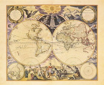 New World Map, 1676  Fine-Art Print