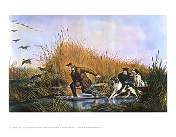 Currier and Ives - Wild Duck Shooting Size 25x17  Fine-Art Print