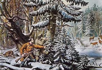 Currier and Ives - American Winter Sports Size 23x16  Fine-Art Print