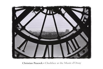 Clockface at the Musee d'Orsay  Fine-Art Print