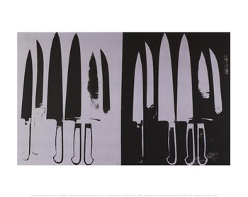 Knives, c. 1981-82 (silver and black)  Fine-Art Print