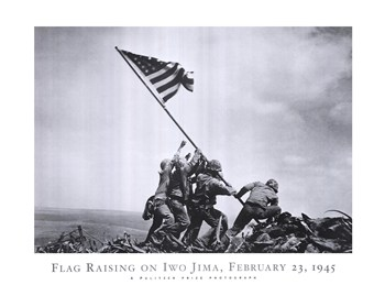 Flag Raising on Iwo Jima, February 23, 1945 ~ Fine-Art Print ...