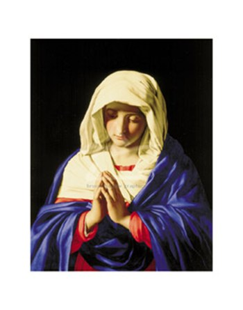 The Virgin in Prayer  Fine-Art Print