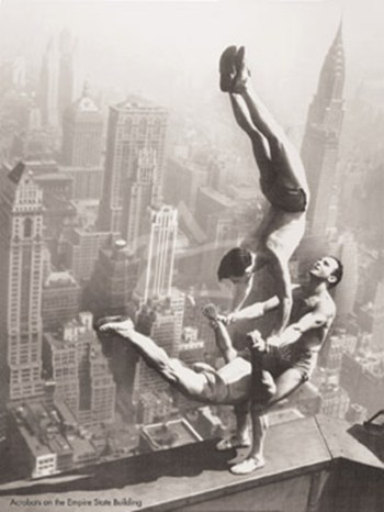 Acrobats on the Empire State Building  Fine-Art Print