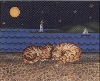 Cats with Lighthouse  Fine-Art Print