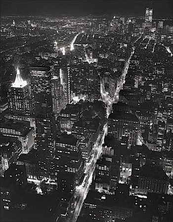 Night View of Lower Manhattan  Fine-Art Print